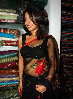 Richa Gangopadhyay in Spicy Transparent Black Saree (51)