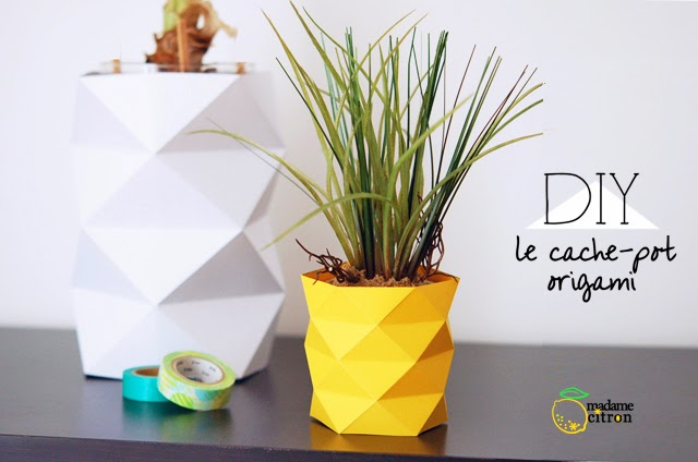 DIY origami pineapple pot