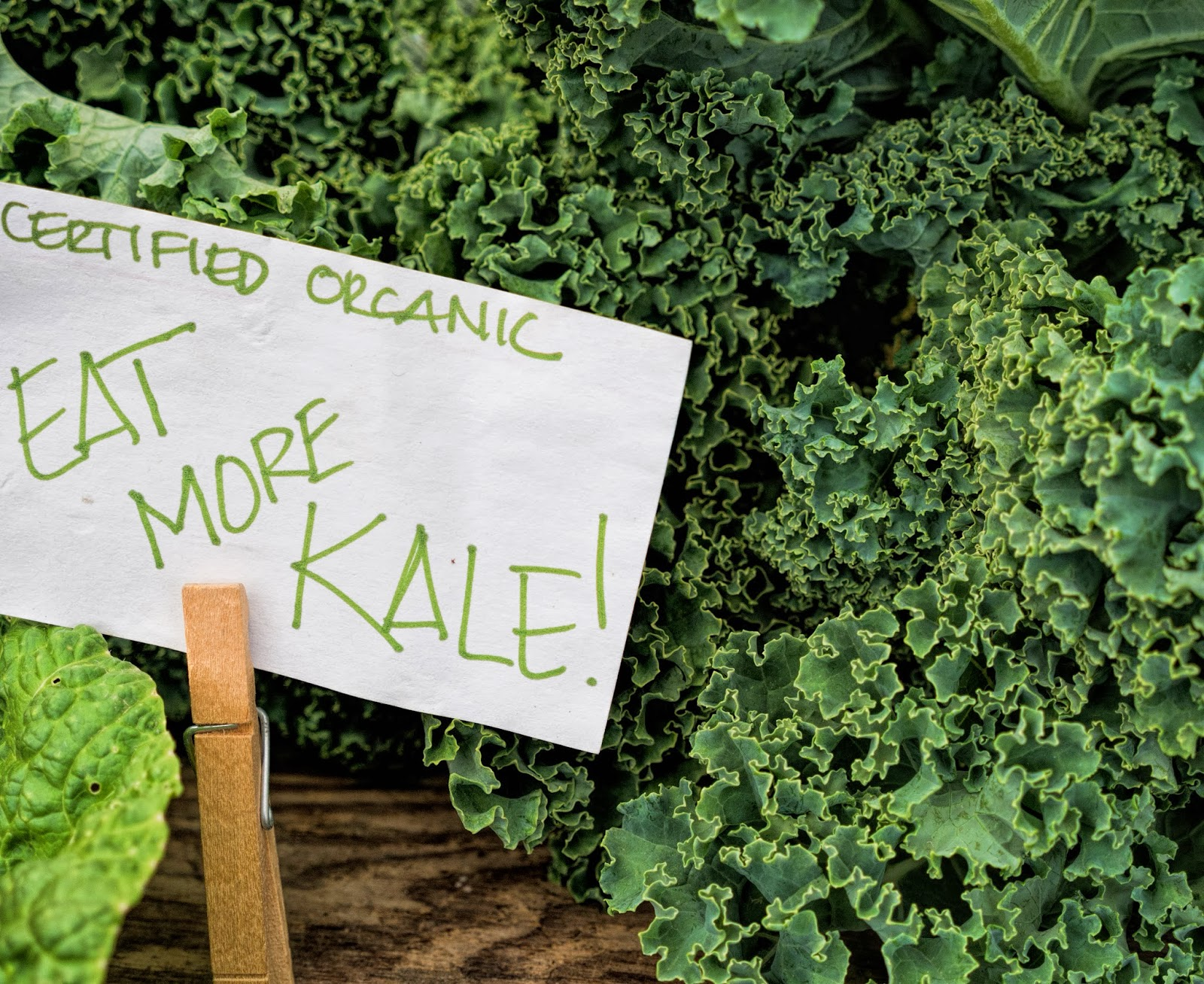 Eat more kale! It's delicious!