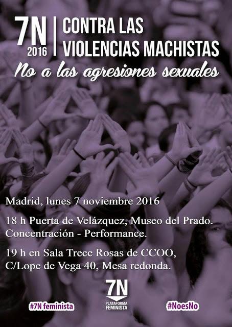 7 noviembre Manifestación contar las Violencias Machistas