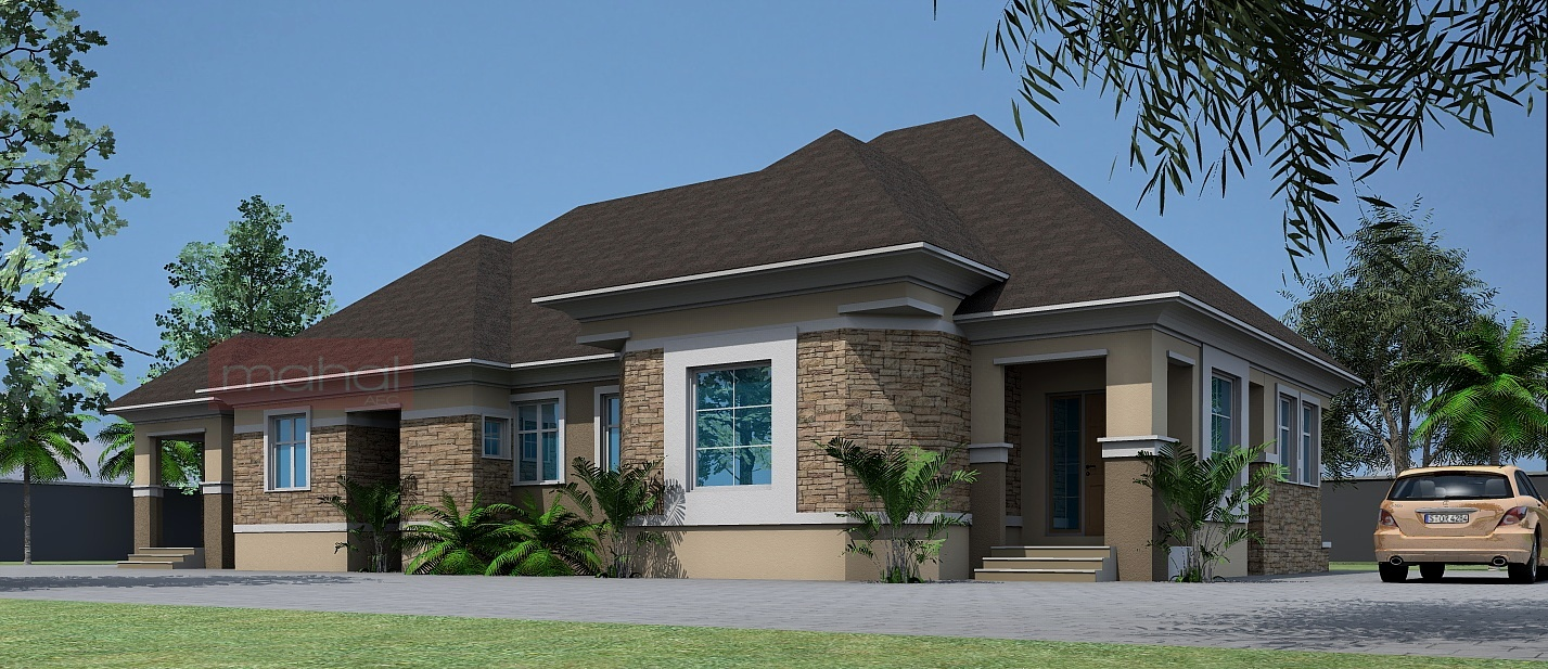 Contemporary nigerian residential architecture 4 bedroom for 4 bedroom bungalow house designs