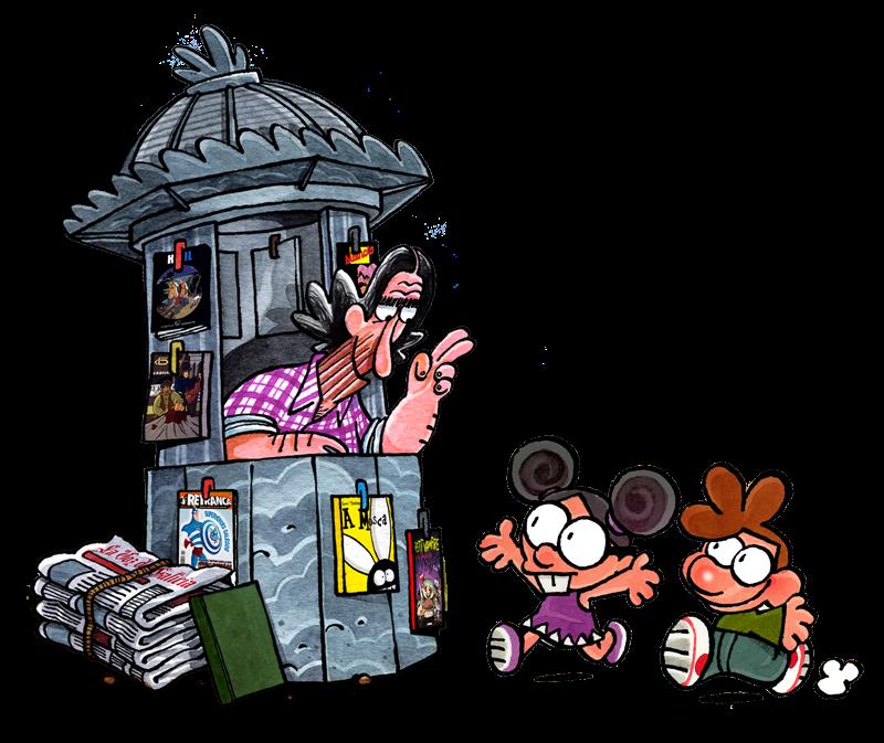 Resultado de imagen de dibujos kiosco de prensa