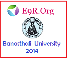 Banasthali University B.Tech, MBA, B.Ed Entrance Exam Test 2014