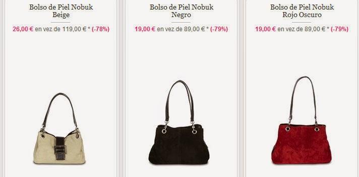 Bolsos de piel de Nobuk desde 19 euros