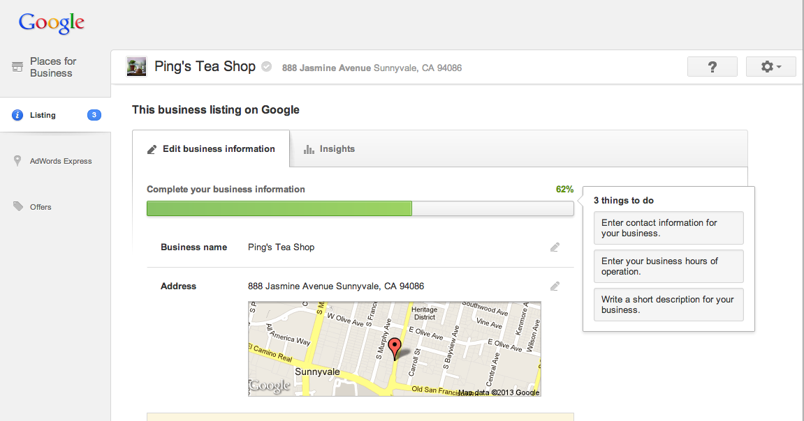 Improving the look and feel of Google Places for Business