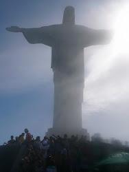 """""""Christ The Redeemer"""" in fog, Corcovado Mountain, Rio de Janeiro"""