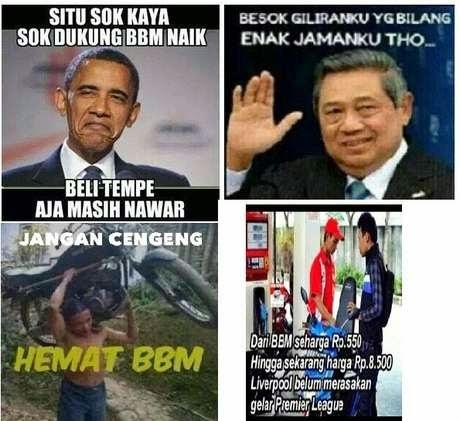 Kumpulan Gambar Meme Lucu BBM Naik Dari Para Netizen