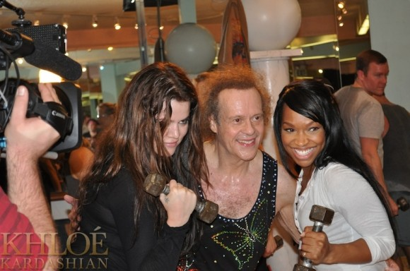 Khloe Kardashian Works Out With Richard Simmons!