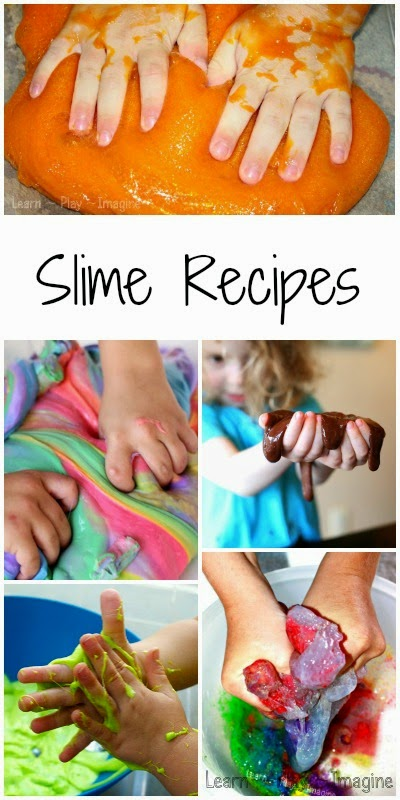 15 recipes for homemade slime, even including a few that are edible and safe for the littlest hands!