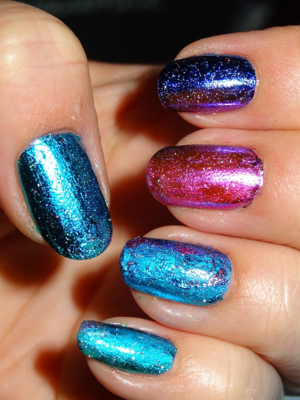 polishlover: Nail Art Transfer Foil - Rainbow
