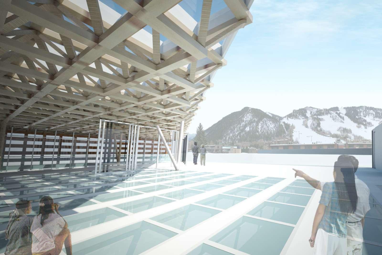 02-Aspen-Art-Museum por Shigeru Ban---junto abierto-verano