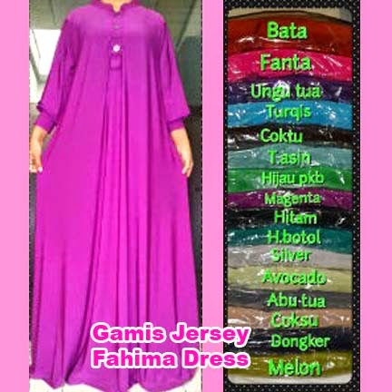 Gamis Jersey Fahima Dress | azzahidahcollections.com