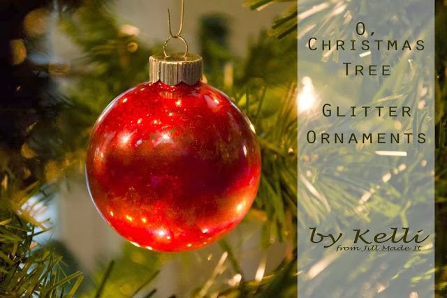 O, Christmas Tree Glitter Ornament Tutorial