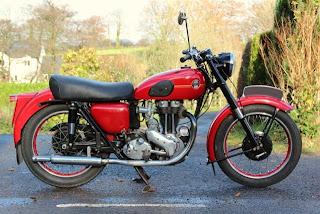 Ariel NH350 Red Hunter Motorcycle