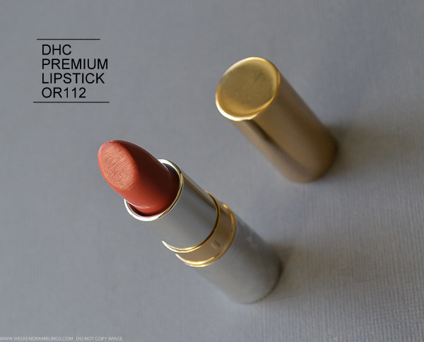 DHC Premium Lipstick OR112 - Orange - Photos, Swatches, Review, FOTD