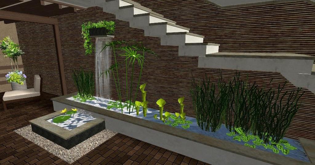 El patio caf un espacio de dise o minimalista elegante - Diseno jardines online ...