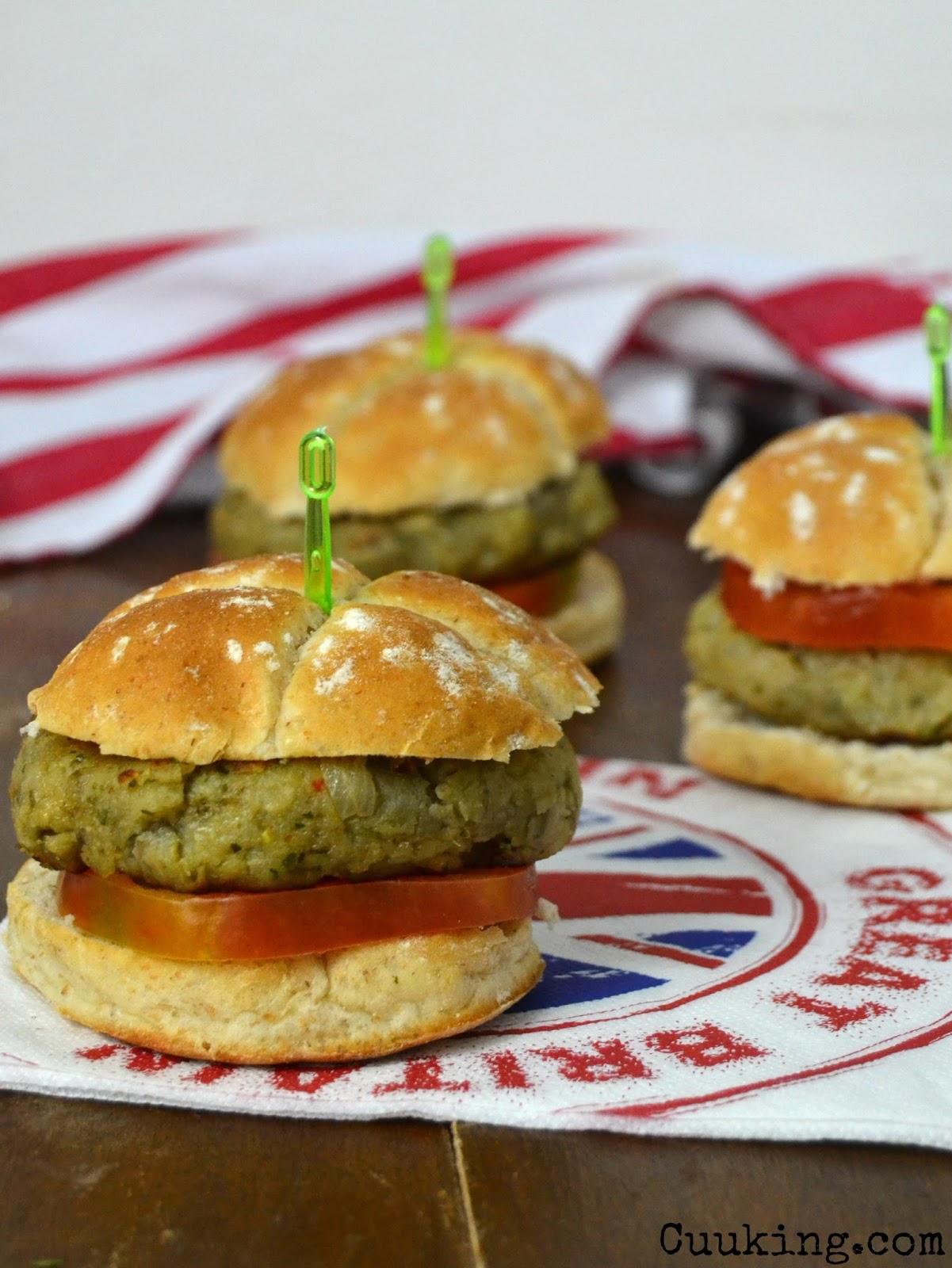 Hamburguesas vegetarianas de berenjena cuuking recetas - Hacer hamburguesas vegetarianas ...