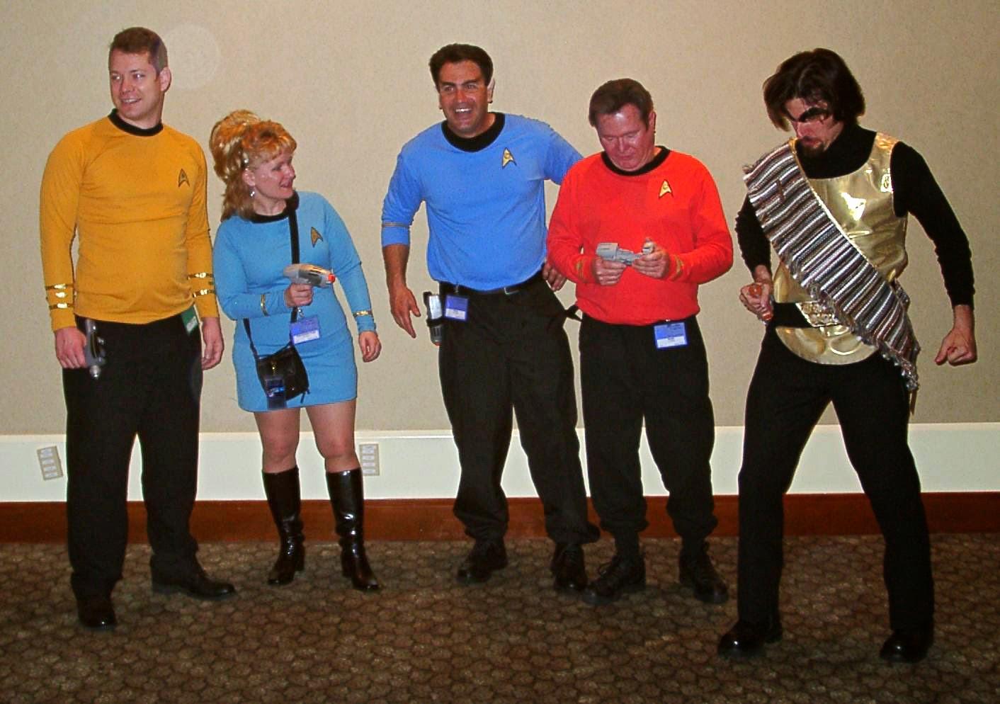 star trek convention trekkies trekkers nerd geek fanboys red shirt klingon jj abrams paramount
