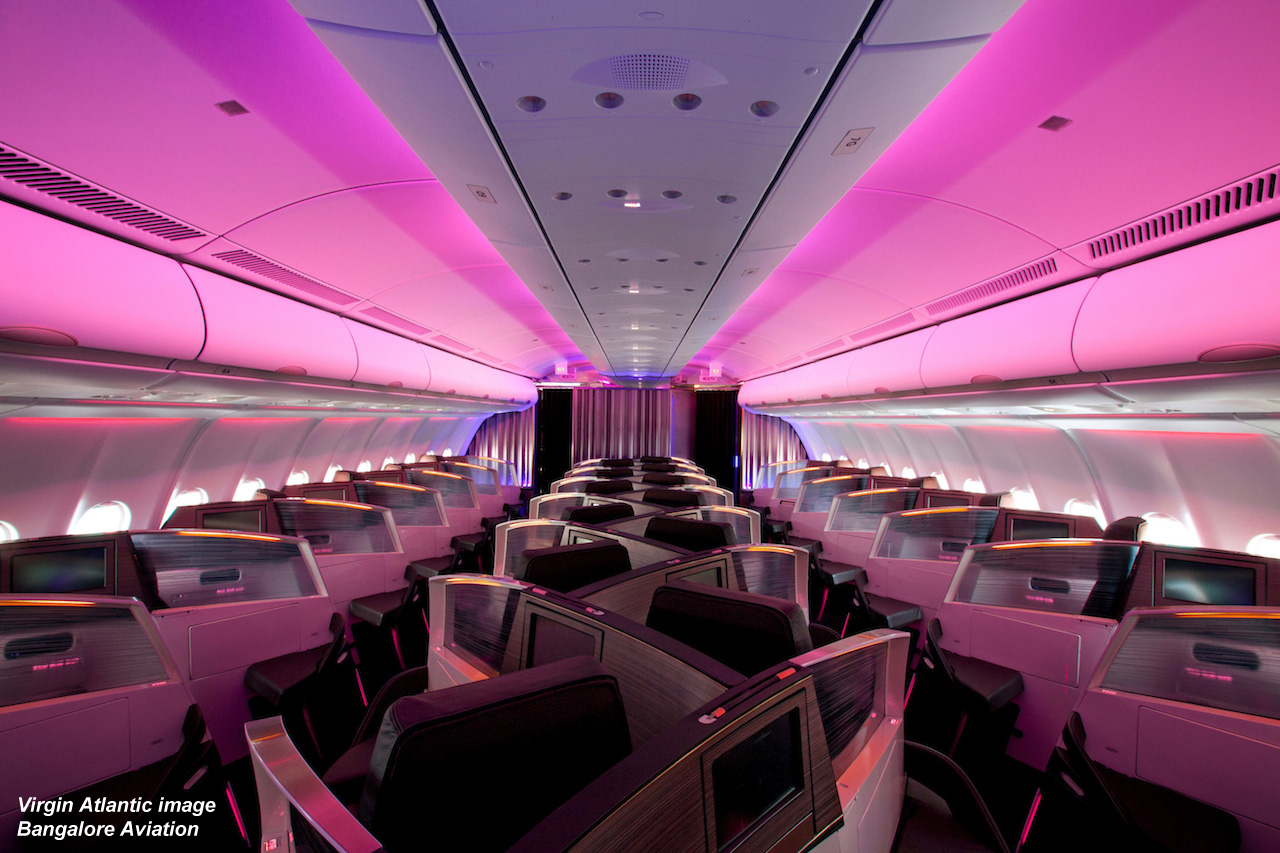 virgin atlantic business class seating plan