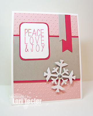 Peace, Love, & Joy card-designed by Lori Tecler/Inking Aloud-stamps from Reverse Confetti