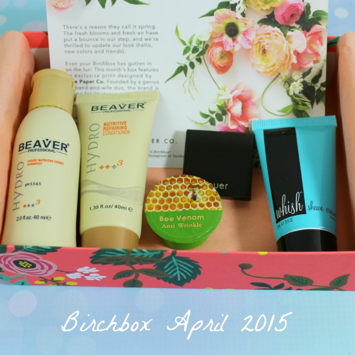Birchbox April 2015: Fresh For Spring/Rifle Paper Co. unboxing