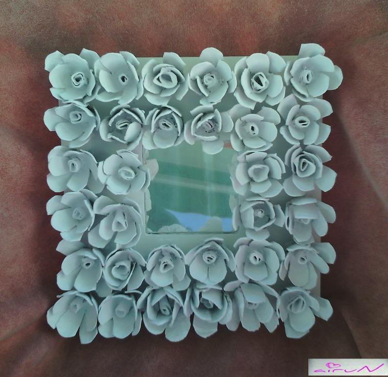 Como hacer un espejo con cartones de huevos for Como hacer un espejo