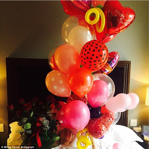 Miley Cyrus shares Valentine's Day gifts from Patrick Schwarzenegger on Instagram