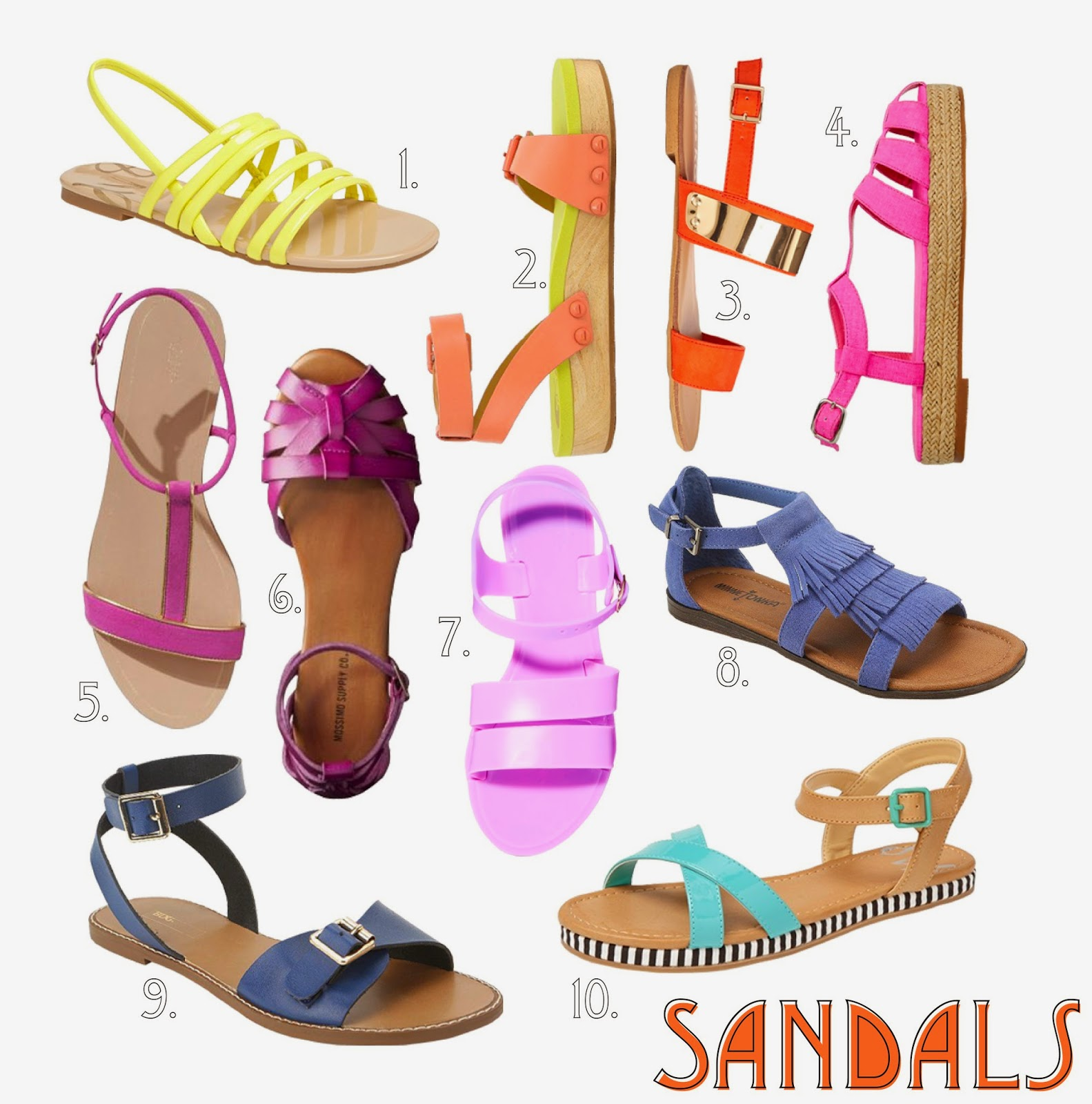 shopping-for-sandals, sandal-collage