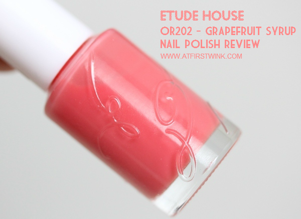Etude House nail polish OR202 - Grapefruit syrup review