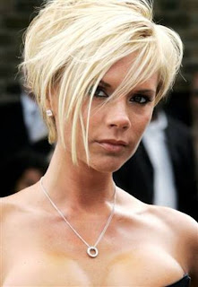 Celebrity Victoria Beckham Short Hairstyle Ideas for Girls