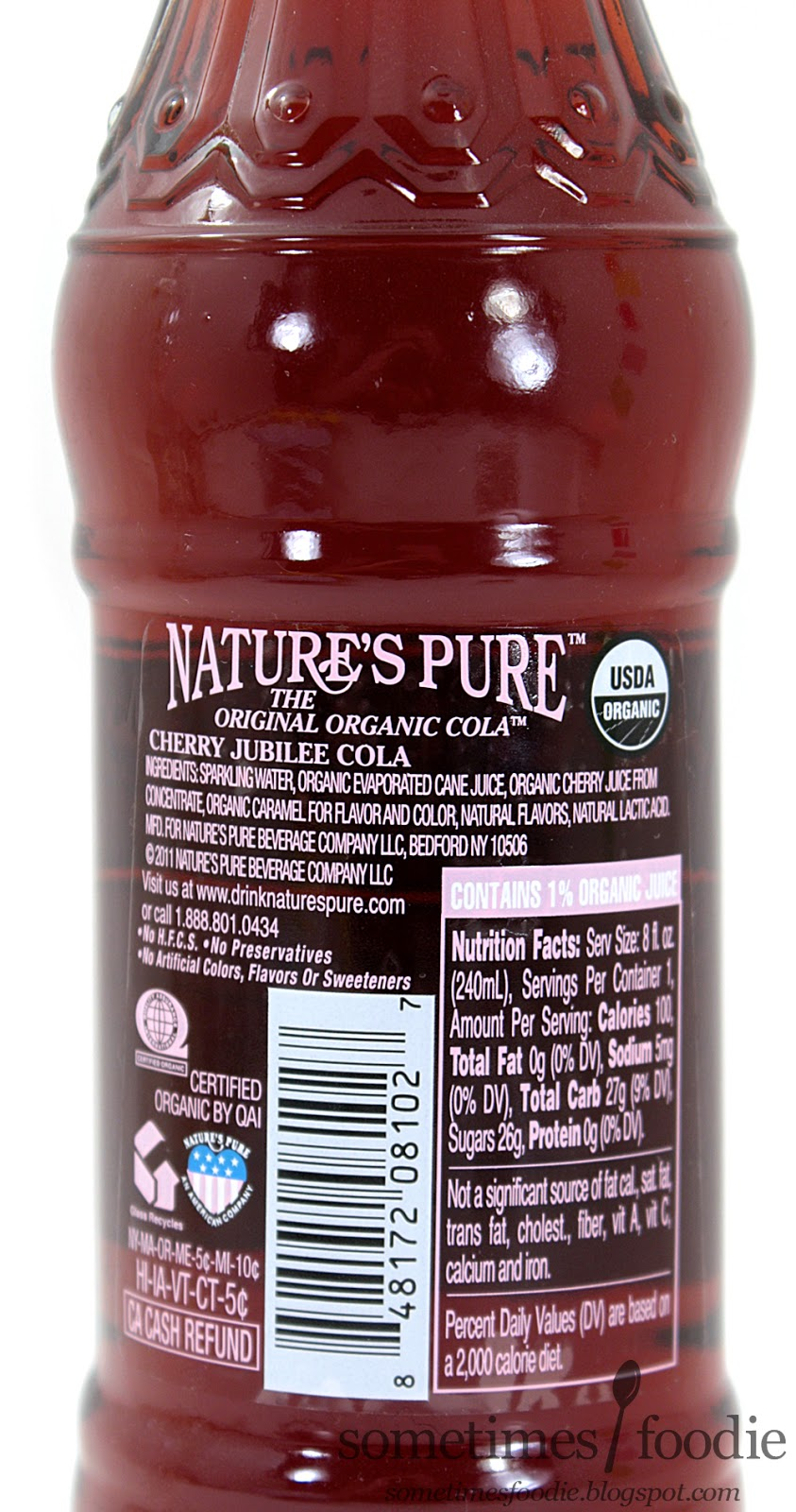 sometimes foodie nature 39 s pure organic cherry jubilee cola whole foods mt laurel nj. Black Bedroom Furniture Sets. Home Design Ideas