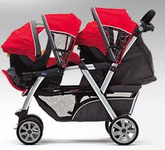 Double Car Seat Stroller Combo For Twins