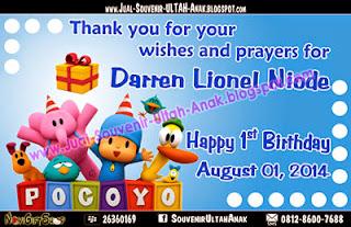 Thanks Card Pocoyo Sample Tema Design Thanks Card (Kartu Ucapan Terima Kasih)