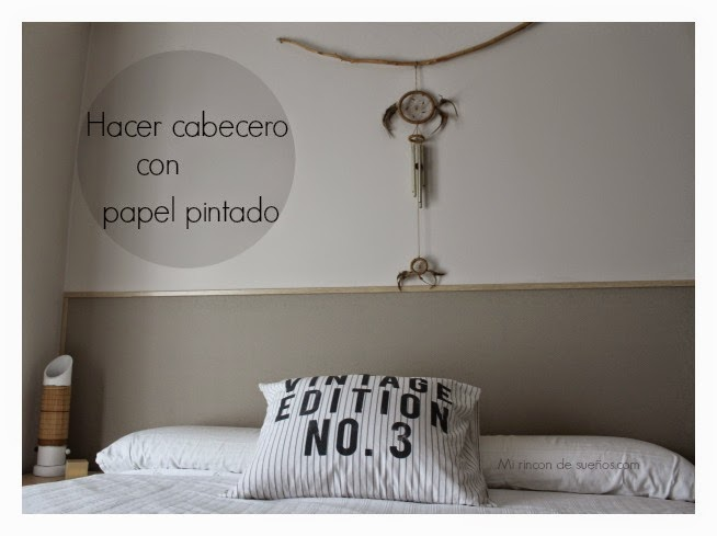 Cabecero papel pintado - Cabeceros de cama originales pintados ...