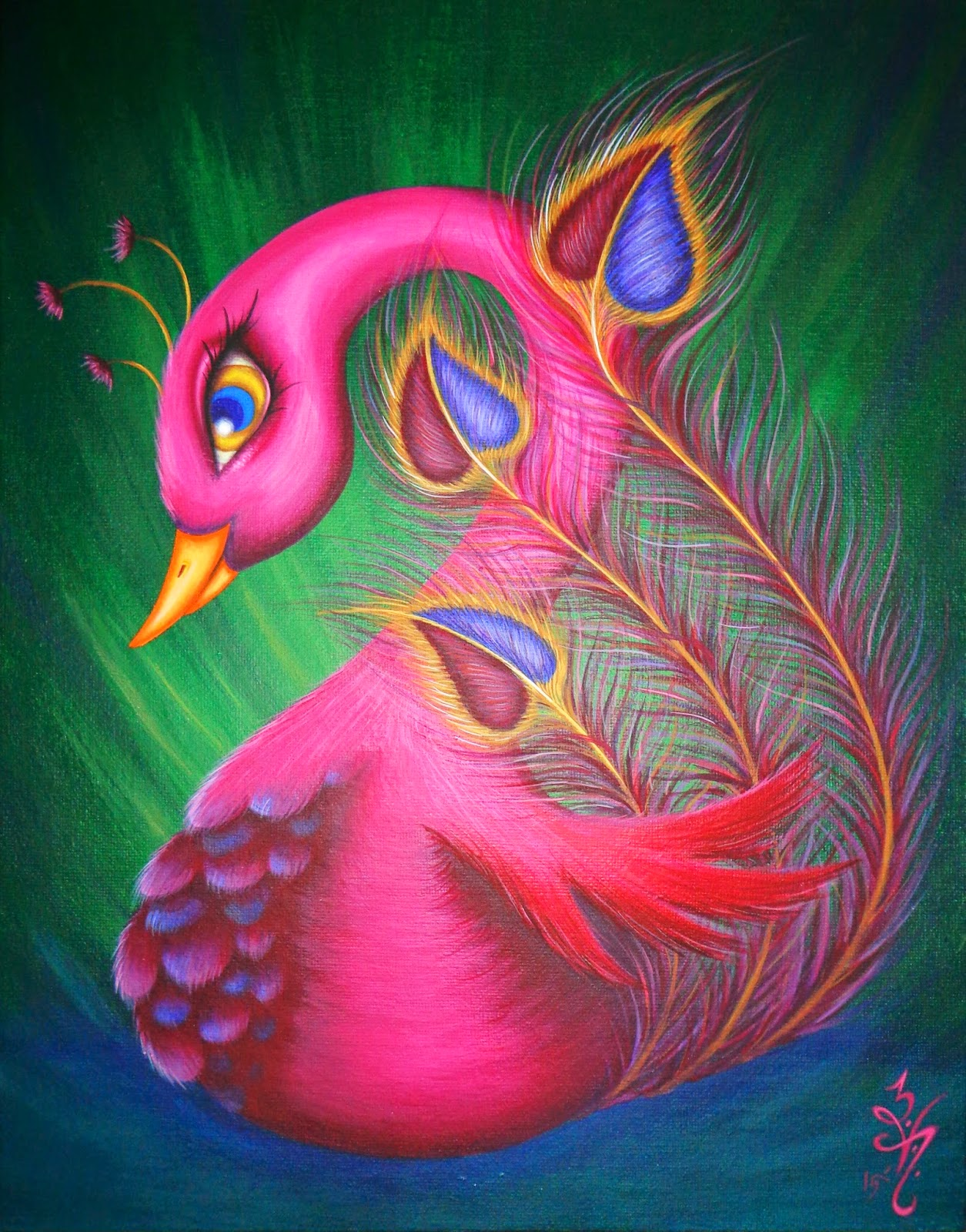 https://www.etsy.com/listing/222157424/original-fantasy-lowbrow-big-eye-peacock