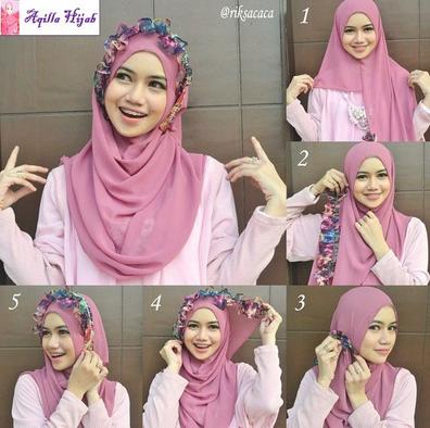 Cara Gampang Pakai Hijab Segi Empat Modern Buat Pemula