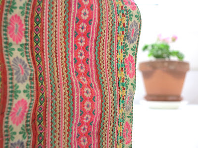 ByHaafner, fabric, Hmong, Laos, embroidery, colourful, pink flower