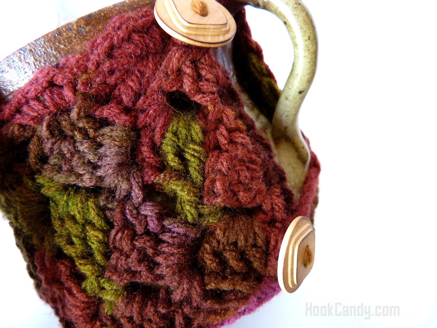 sideways stitch mug cozy