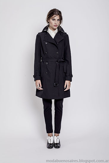 Trench Janet Wise invierno 2015 moda mujer ropa.
