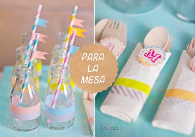 decoración washi tape cumpleaños