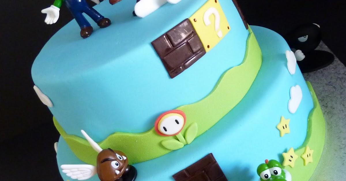 top that   mario bros cake