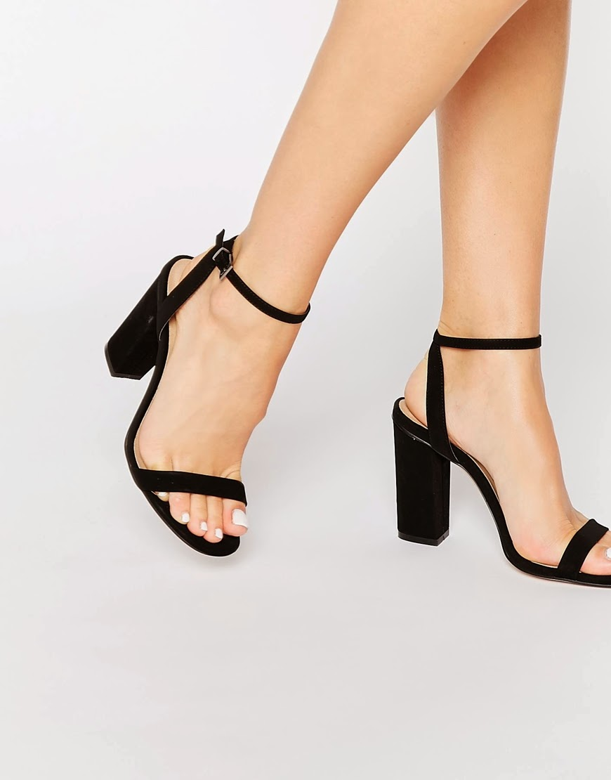 asos black strap heels,
