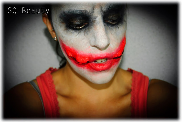 Maquillaje Halloween Guason Joker Makeup Silvia Quiros efectos especiales, special effects