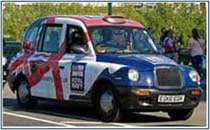 colourful London taxi cab 1