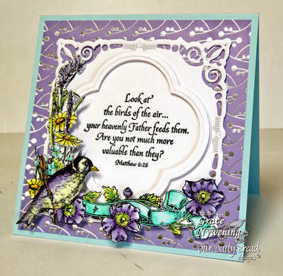 ODBD Products - Sing for Joy, ODBD Custom Quatrefoil Designs Die, Finch College, Hymn Collage