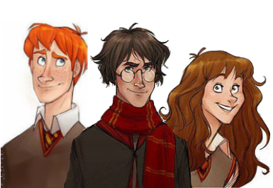The Golden Trio: Great Fan Art | The FarNerdy Blog
