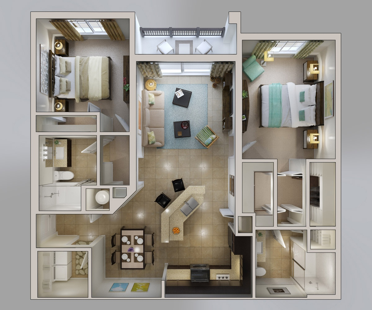 Apartment Floor Plans Designs Philippines 50 3d floor plans, lay-out designs for 2 bedroom house or apartment