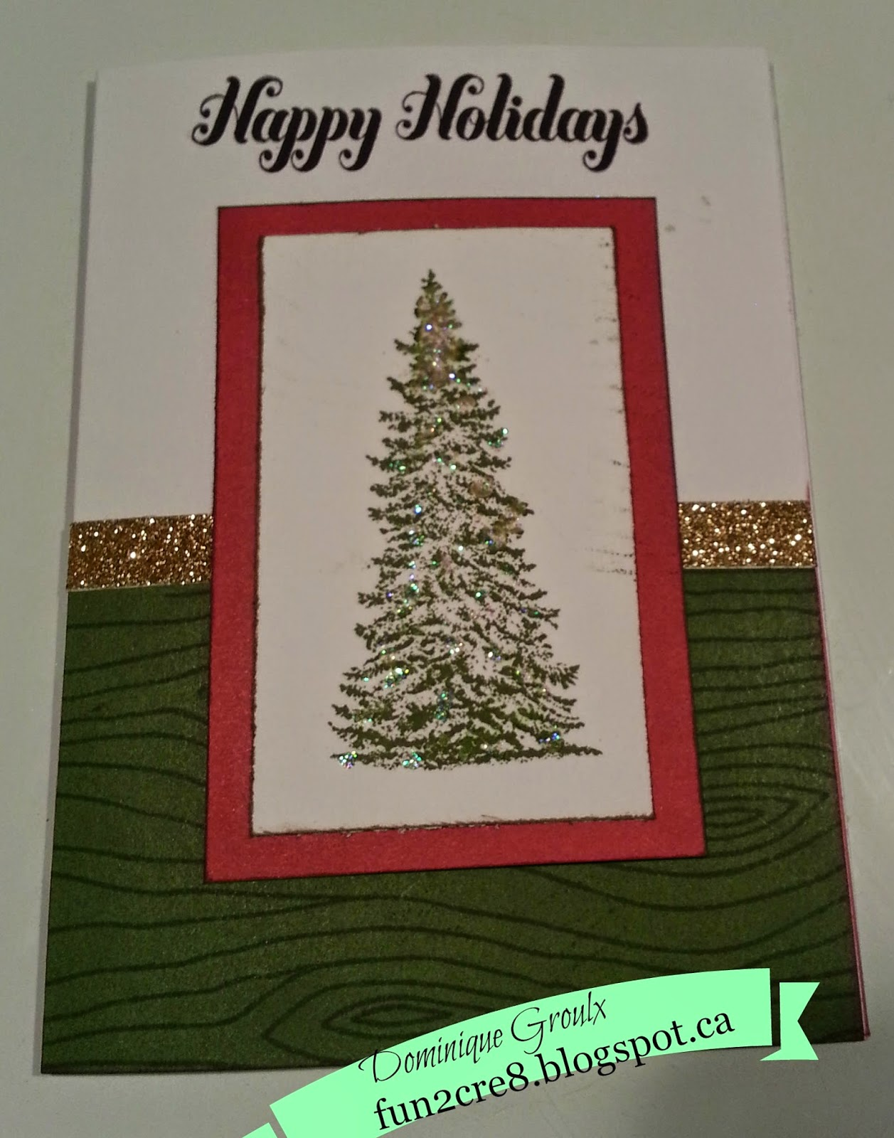 O Tannenbaum Christmas Tree - card by fun2cre8.blogspot.ca