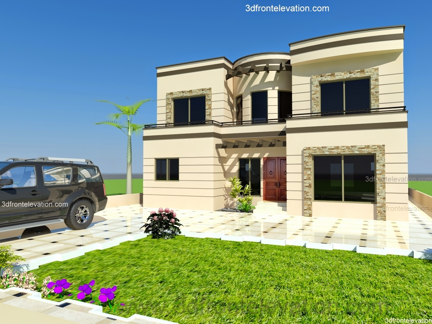 Front Elevation Houses Islamabad : D front elevation kanal house minimum