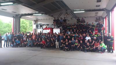 foto de familia de los bomberos jornadas 2013